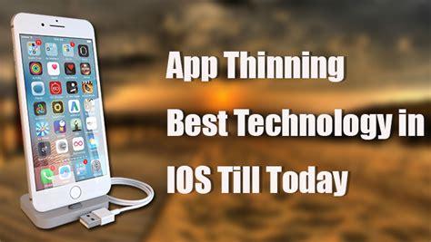 app thinning technology  iphone