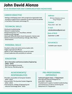 Top-rated Fresh Graduate Cv Template Word