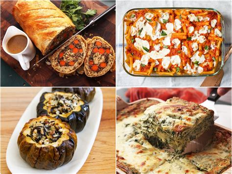 vegetarian mains festive holiday table main lauren recipes