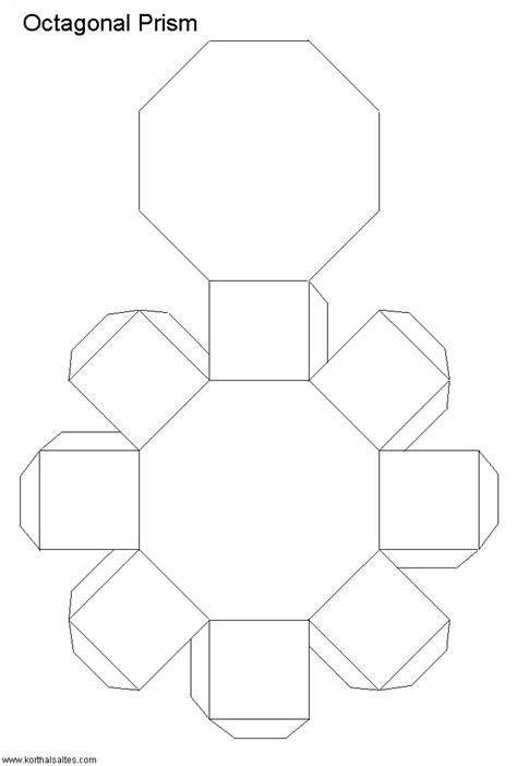 net octagonal prism design freebies packaging