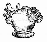 Crystal Ball Drawing Tattoo Hands Clipart Google Psychic Witch Drawings Awesome Clip Tattoos Stencils Philatelic Witches Hand Predictions Crystals Cool sketch template