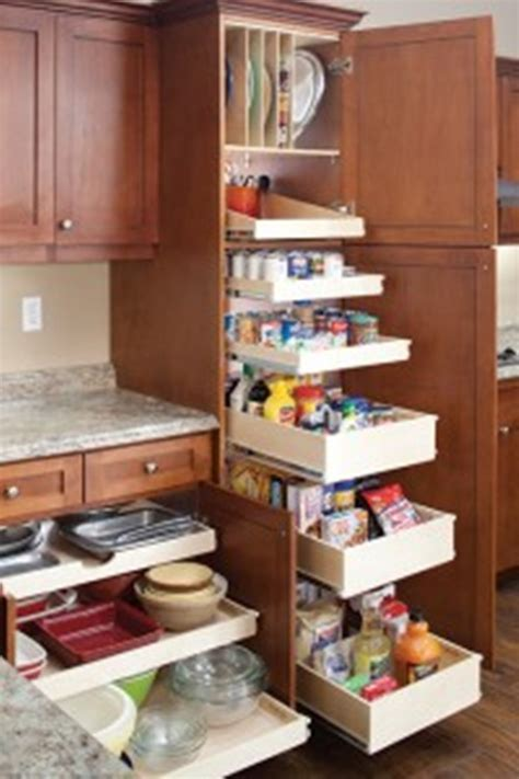 kitchen cabinet sliding shelves innovative sliding cabinet shelves to save your kitchen 5782