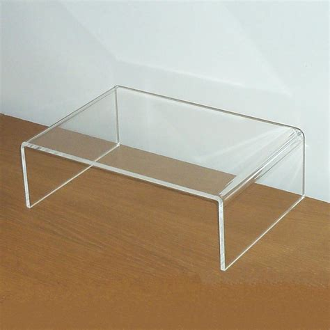 clear acrylic lap desk bestlife high quality acrylic computer monitor desk riser