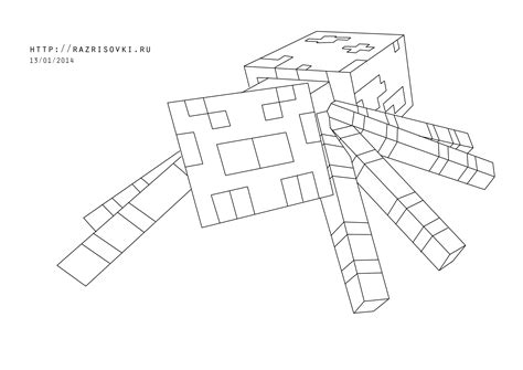 minecraft coloring pages spider  getcoloringscom