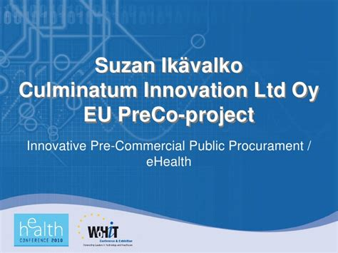 Culminatum Innovation Ltd Oy Eu Preco-project