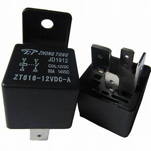 Ee Support 10pcs 12v 80a 80 Amp Spst Relay Black Car Truck