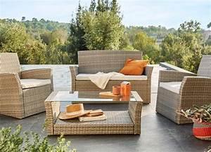 salon de jardin table et chaise mobilier de jardin With tapis shaggy avec canape et fauteuil de jardin