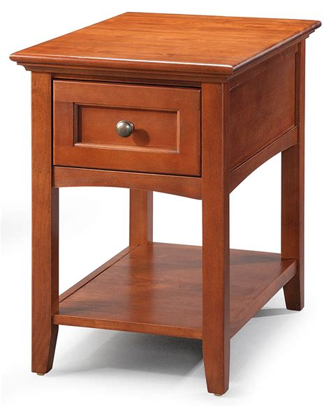 chair and end table hoot judkins end and side solid alder mckenzie media chair