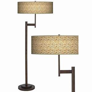 seagrass print parker light blaster bronze floor lamp With floor lamp with seagrass shade