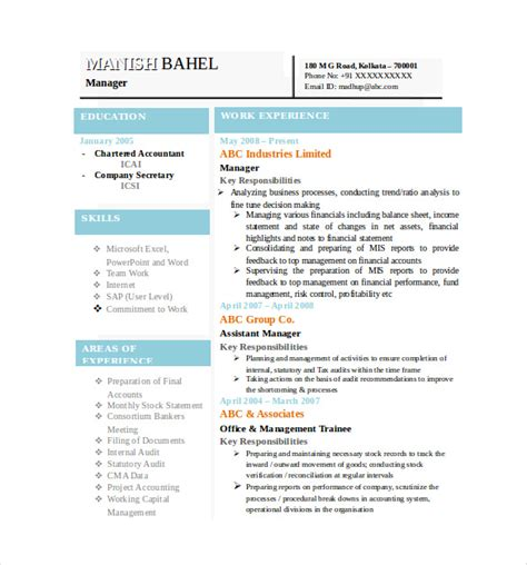 resume formats   samples examples format