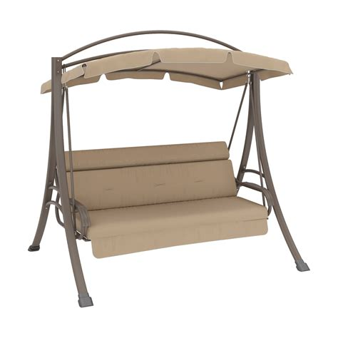 canap swing shop corliving nantucket warm grey porch swing with arched