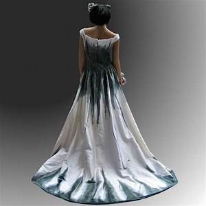 Gothic wedding dress with stunning hand painted handmade for Painted wedding dress