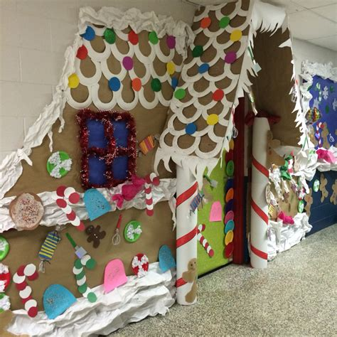 Decorating Ideas For Gingerbread by Gingerbread Door Decorating Contest School Stuff