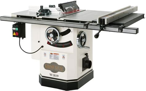 professional table saw reviews shop fox w1819 and w1824 comparison review pro vs homepro