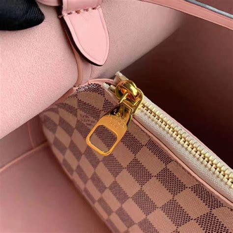 louis vuitton lv women neonoe bucket bag  damier azur canvas pink lulux