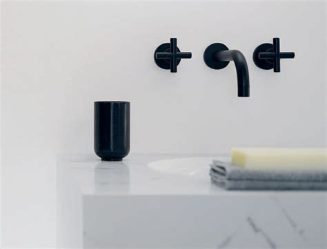 rubinetti da parete rubinetteria da bagno tre fori da parete tara dornbracht