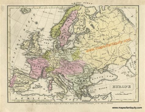 europe antique maps  charts original vintage rare