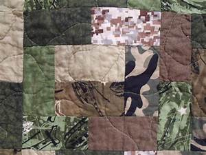 Camo Fabric With Lava Flow Pattern Quilt