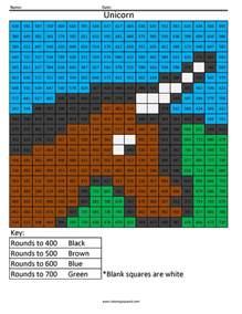 rounding worksheets pdf rounding coloring squared