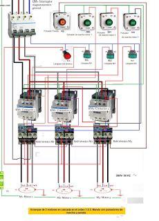 esquemas el 233 ctricos arranque de 3 motores en cascada en el orden 1 2 diagramas electricos