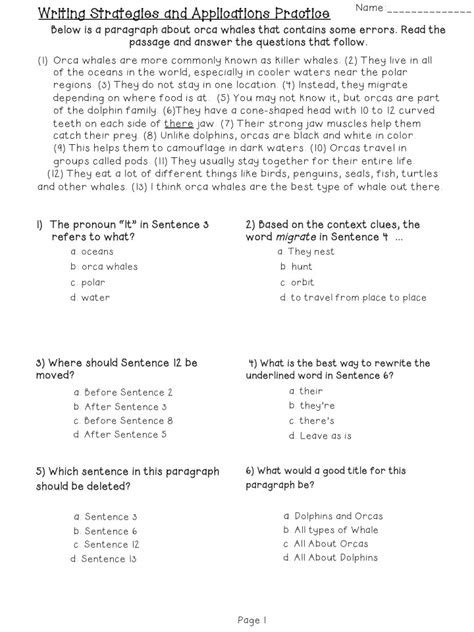 11 best images of editing worksheets grade 3 daily