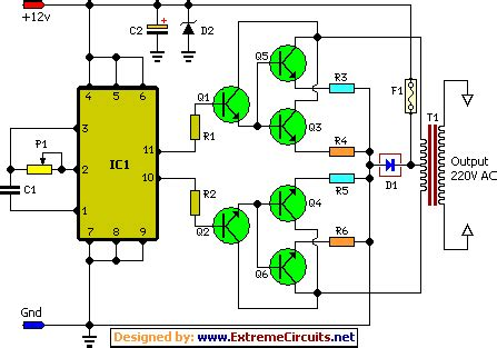 inverter circuit schematic circuit diagram