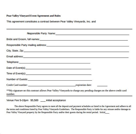 event contract template 19 event contract templates to for free sle templates