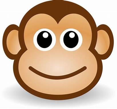 Clipart Svg Monkey Cartoon Clip Monkeys Printable