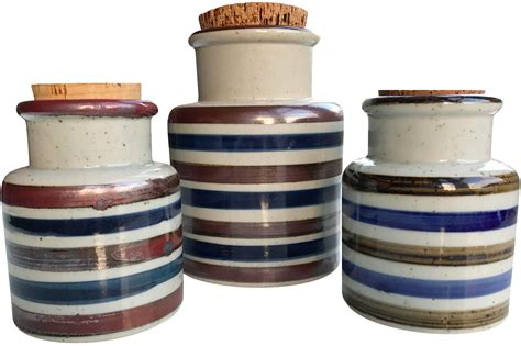 vintage ceramic kitchen canisters vintage japanese ceramic canisters set of 3 chairish