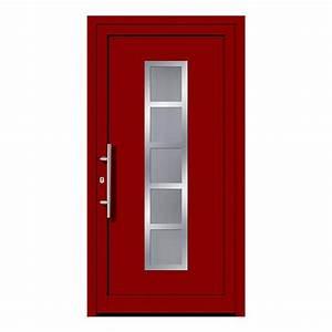 Porte d39entree rouge en ligne pas chere fenetre24com for Porte d entrée rouge