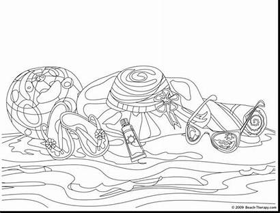 Coloring Pages Beach Blanket Adult Palmier Coloriage