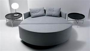 scoop canape convertible en lit rond With canapé lit rond