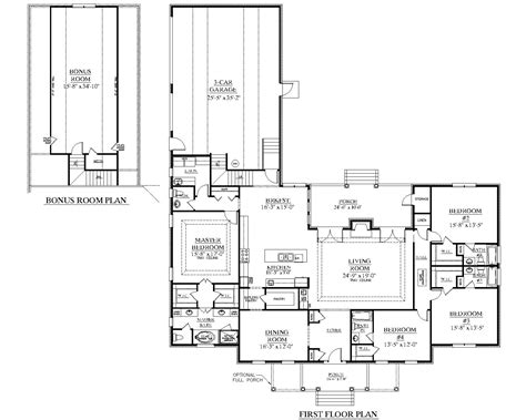 """Southern Heritage Home Designs   House Plan 3014 A The STAFFORD """"A"""""""