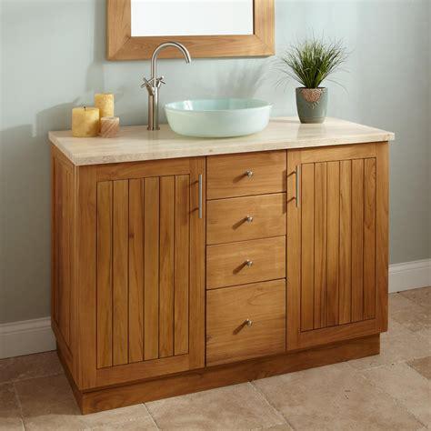 48 inch vessel sink vanity 48 quot montara teak vessel sink vanity bathroom vanities