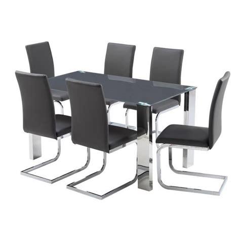 ensemble table et 6 chaises ensemble table à manger 6 chaises en pvc gris