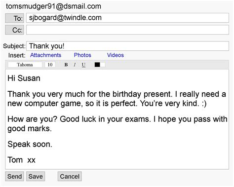 Thank You For Passing On My Resume by A Thank You Email Learnenglish Council