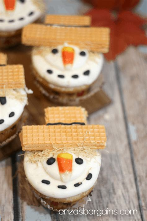 scarecrow cupcakes recipe  cutest  fall table