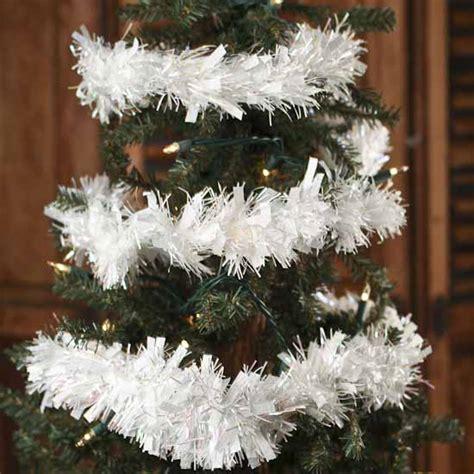 white iridescent tinsel garland  feet christmas