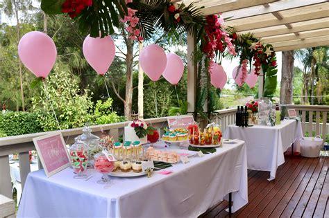 Kitchen Tea Theme Ideas by Tropical Bridal Shower Decor Kitchen Tea Ideas Pink