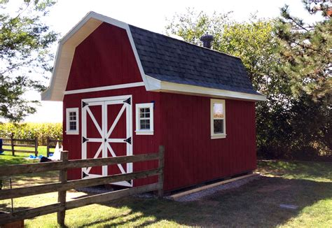 12 215 16 barn style gambrel roof shed plans