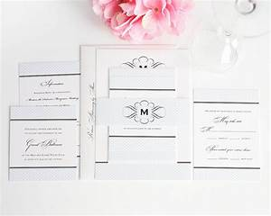 elegance monogram wedding invitations wedding With monogram for wedding invitations etiquette