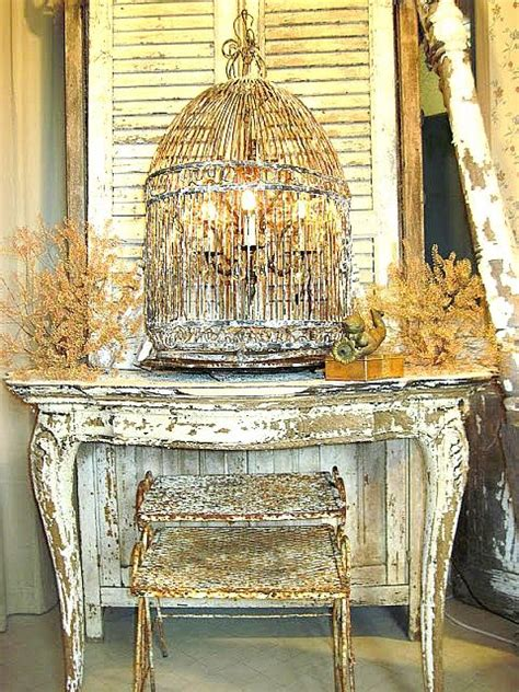 Birdcage Chandelier Shabby Chic by Chandelier Hanging Inside Birdcage Shabby Chic