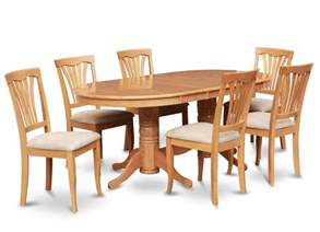 Dining Room Table And Chair Sets Details About 7pc Oval Dinette Kitchen Dining Room Set Table With 6 Upholstery Chairs In Oak