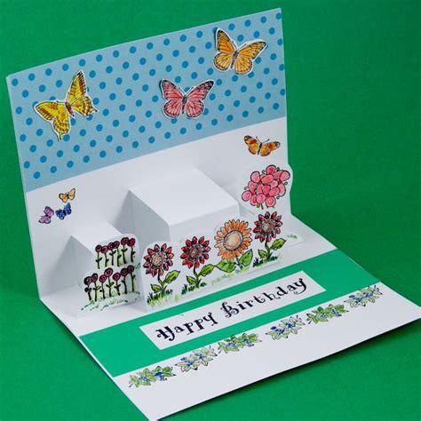card making idea step pop  cards simple birthday