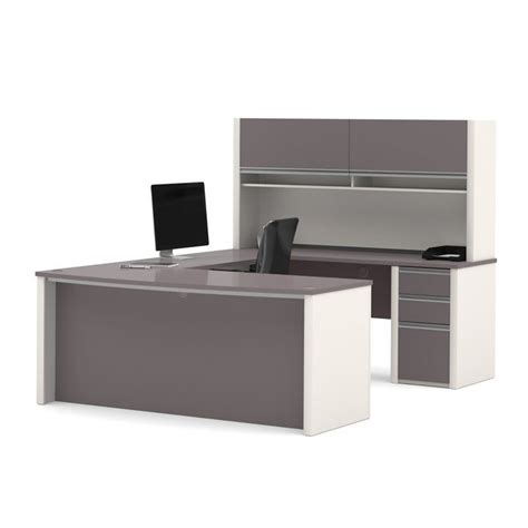 bestar u shaped desk bestar connexion u shaped workstation with 1 pedestal in