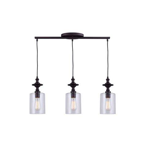 rubbed bronze kitchen pendant lighting canarm york 3 light rubbed bronze pendant ipl586a03orb 8980