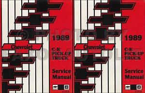 1989 Chevrolet C  K Pickup Truck Repair Shop Manual Reprint