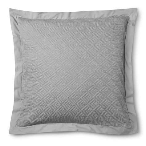european pillow shams matelasse sham gray fieldcrest ebay