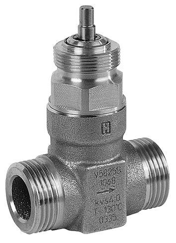Compact 2-way control valve PN25, pressure balanced, DN15