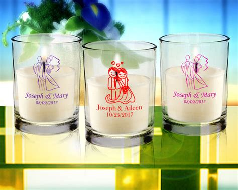 Wedding Personalized Clear Candle Favors From 072